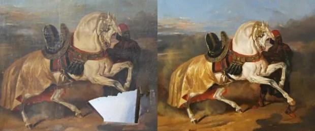 Restauration de tableaux  Valérie Lesaige lève le voile - Unidivers