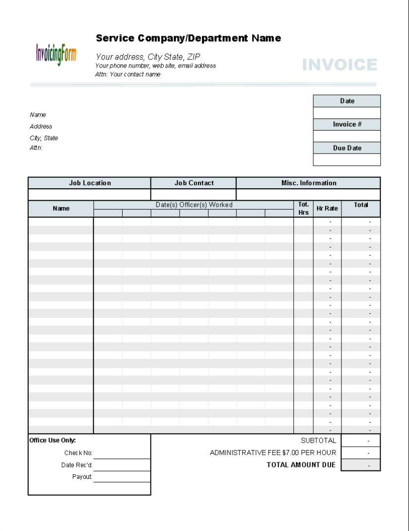 invoice template billable hours resume builder for job invoice template billable hours invoice templates hloom invoice template for hours worked 5 results found