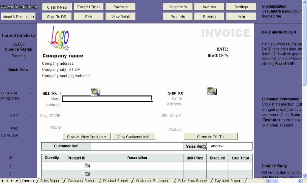 download aynax free invoice template | rabitah, Invoice templates
