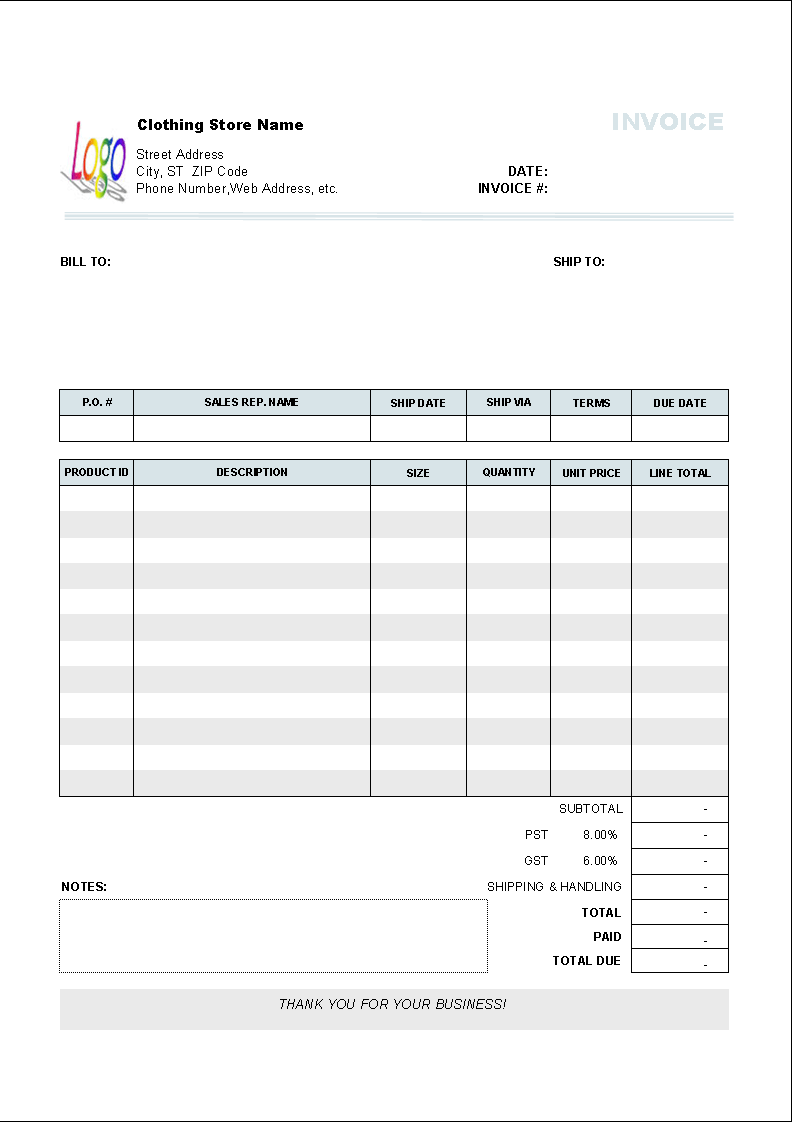 invoice format template - livmoore.tk, Invoice examples