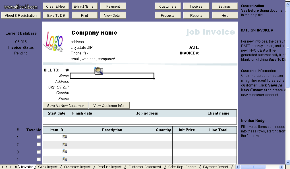 job invoice template - www.rockcup.tk, Invoice templates