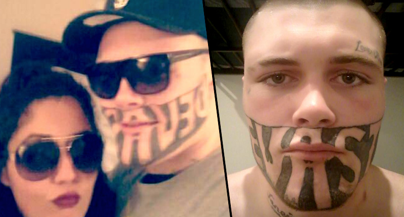 Man With \u0027DEVAST8\u0027 Face Tattoo Complains He Can\u0027t Find Work