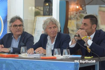Il presidente Pedone, il responsabile area tecnica Papagni e l'a.d. Ruggieri