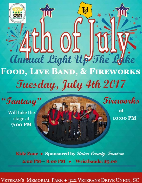 Union County Chamber of Commerce - Light Up the Lake July 4th