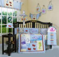 Dolphin Bedding for a Beach or Ocean Baby Nursery Theme Design