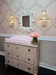 Baby Girl Bedroom Wallpaper Diy Wainscoting Nursery Ideas Photos Of Nursery