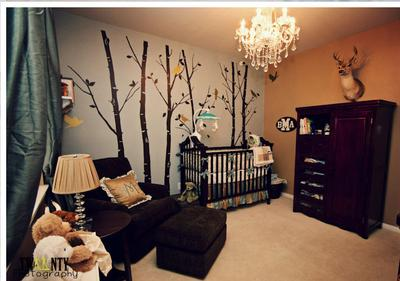 Classic Car Wallpaper For Bedrooms Woodland Animals Theme Nursery For A Baby Boy