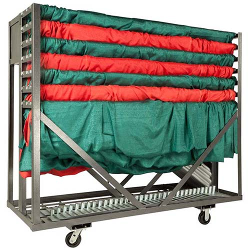 Party Cart Pipe and Drape Combination Cart