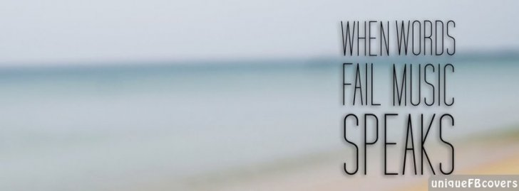 Cute Attitude Wallpaper Music Speaks Facebook Covers Quotes Covers Fb Cover