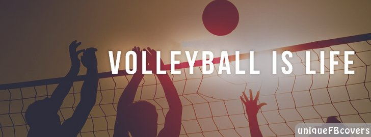 Cute Cartoon Hd Wallpapers Free Download Volleyball Is Life Facebook Covers Sports Fb Cover