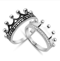 King & Queen,crow ring set, gold crown ring,gold crown ...