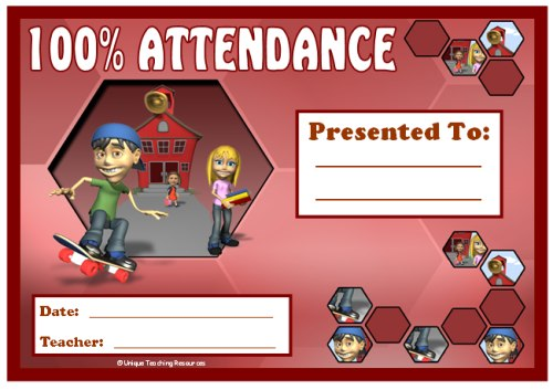 Awards For All Subjects Awards and Certificates That All Teachers - Free Printable Perfect Attendance Certificate
