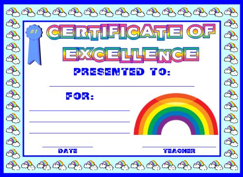 certificates for elementary students - Acurlunamedia - free certificate template for kids