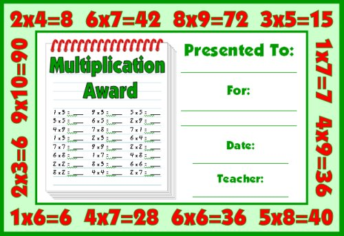 Math Awards Certificates - printable math awards