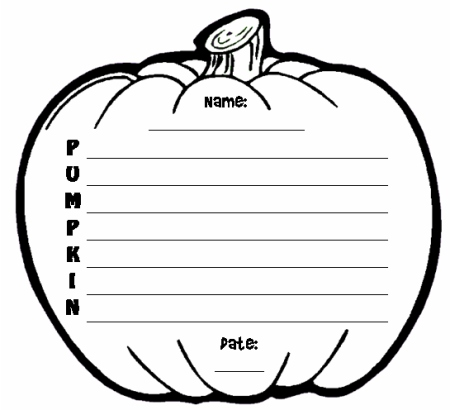 Pumpkin Acrostic Poems - Unique pumpkin shaped Halloween poetry - halloween templates to cut out