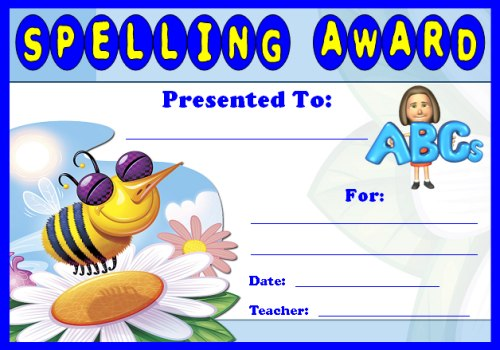 English Award Certificates