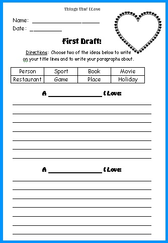 Valentineu0027s Day Teaching Resources Lesson Plans for Teachers for - printable book review template