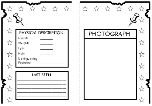 character book report templates