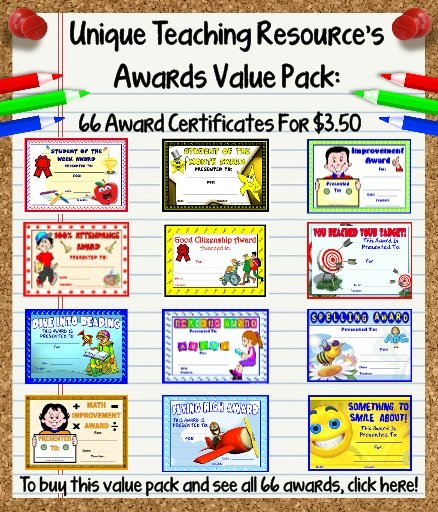 Awards and Certificates for Students - recognition certificates for students