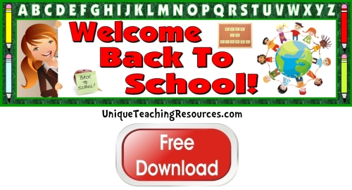 Free Welcome Back To School Bulletin Board Display Banner Free Download
