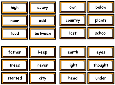 Fry 1000 Instant Words For Teaching Reading Free Flash Cards and - flash cards words
