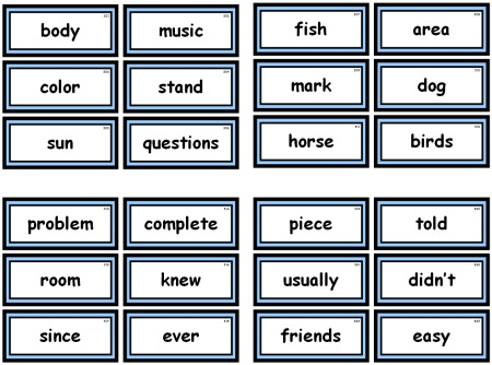 Fry 1000 Instant Words For Teaching Reading Free Flash Cards and - dolch sight word flashcards