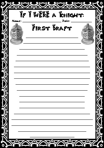 Knight Writing Templates If I Were a Knight Creative Writing Topic - writing template