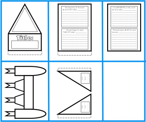 Rocket Book Report Project templates, worksheets, grading rubric - printable book review template