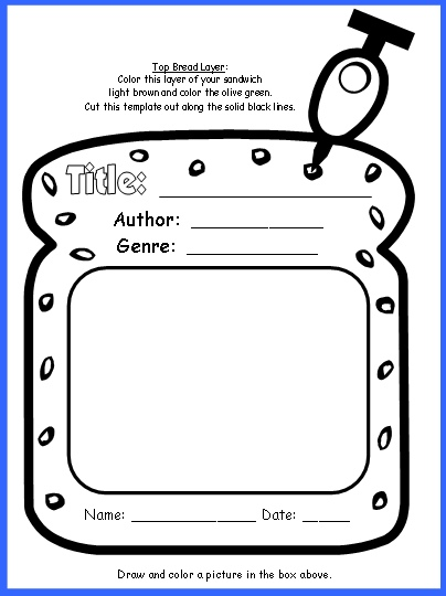 Sandwich Book Report Project templates, printable worksheets, and - book report template free