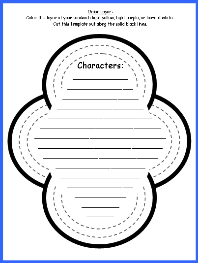 Sandwich Book Report Project templates, printable worksheets, and