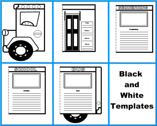 School Bus Book Report Project templates, worksheets, grading - school book report template