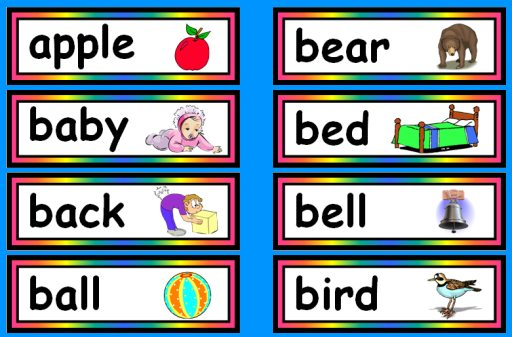 Reading Sight Words Free Flash Cards and Word Lists