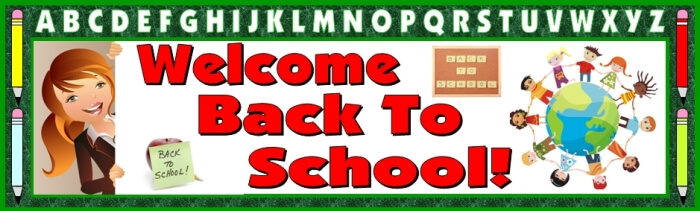Free Welcome Back To School Bulletin Board Display Banner Free Download - free printable welcome back sign