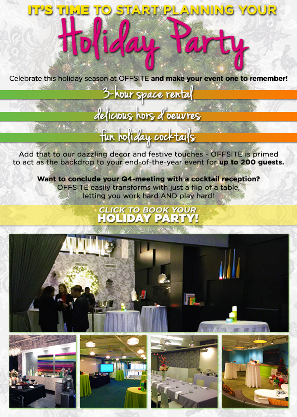 Holiday Party Rental at OFFSITE NY