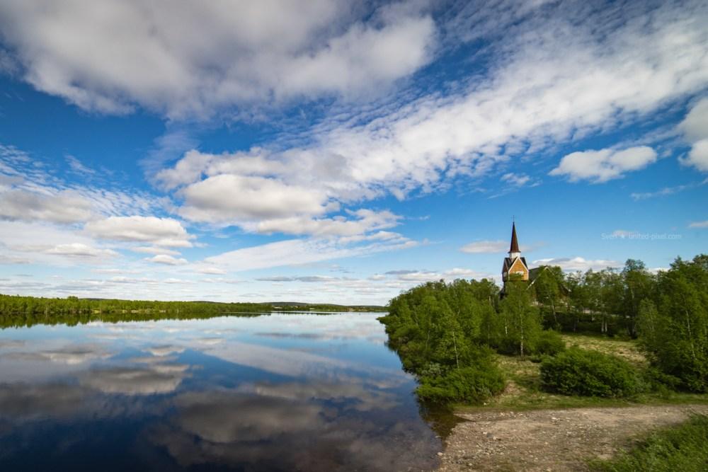 Karesuando Grenze Schweden Finnland