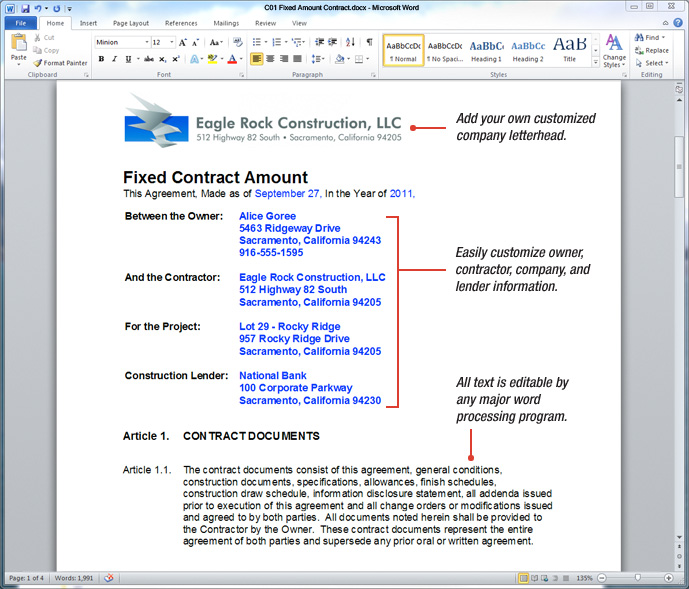 UDA ConstructionDocs - California Construction Contract Templates