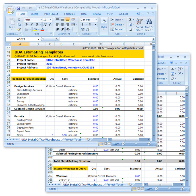 estimate worksheet template - Goalgoodwinmetals - free construction estimating spreadsheet