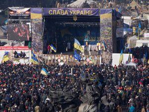 Manifestación en Kiev el 21 de Febrero, Wikipedia
