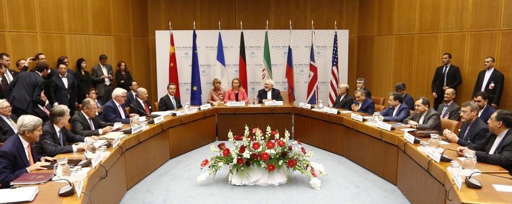 Conversaciones entre Irán y los ministros de exteriores del G5+1. Imagen: Wikipedia.