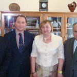 Dr Massimo Restivo, Deputy of Lugansk City Council Zukhbaya Zaza and Dr Polidoro