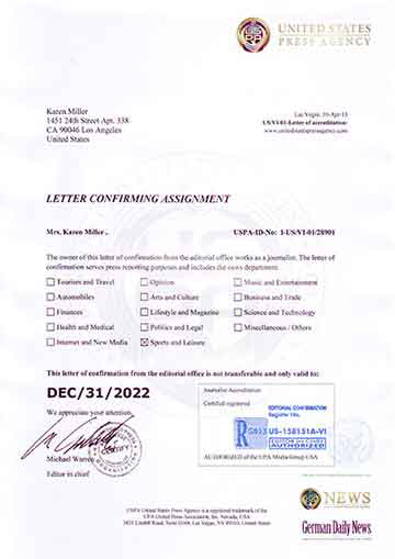 Letter of accreditation - unitedstatespressagency - assignment letter