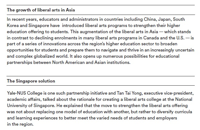 The future of the liberal arts report - Universities Canada