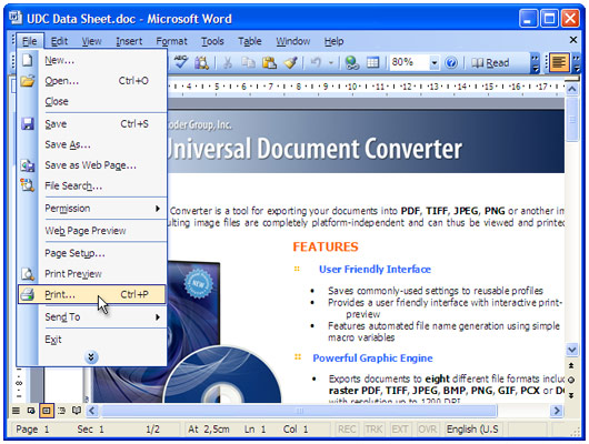How to convert Word (doc file) to PDF - Universal Document Converter
