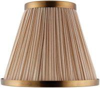Suffolk Beige 6 Inch Lamp Shade With Antique Brass Frame 63558