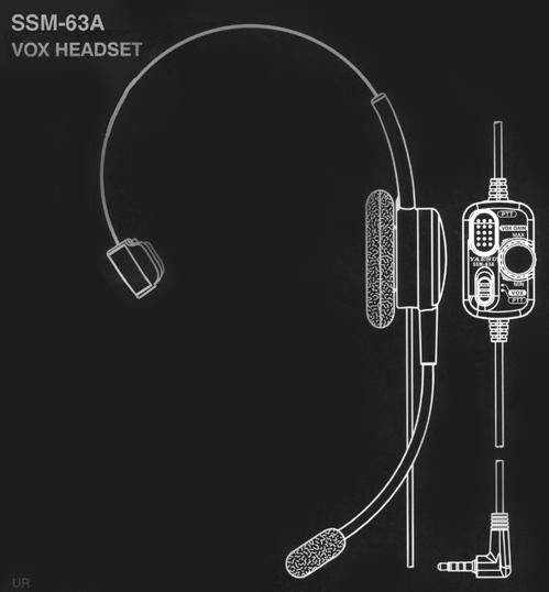 Yaesu SSM-63A Headset, Yaesu SSM63A