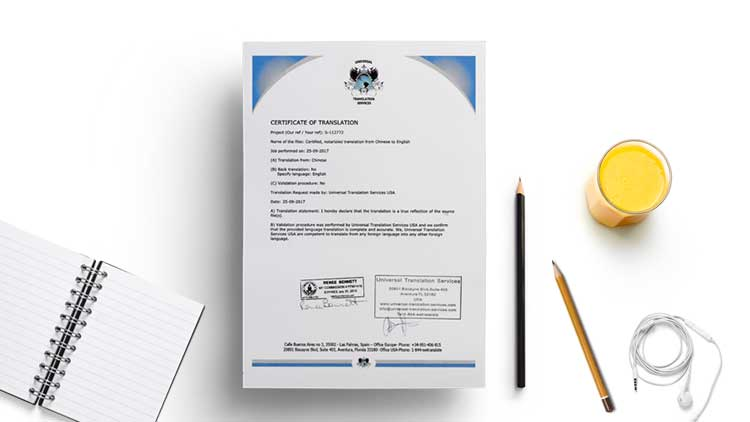 Need a Certificate of Translation Sample? Get it From Here