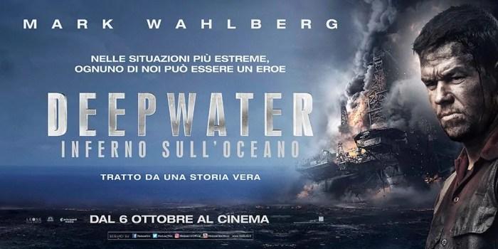 Mark Wahlberg protagonista di banner e poster italiano di Deepwater – Inferno sull'Oceano