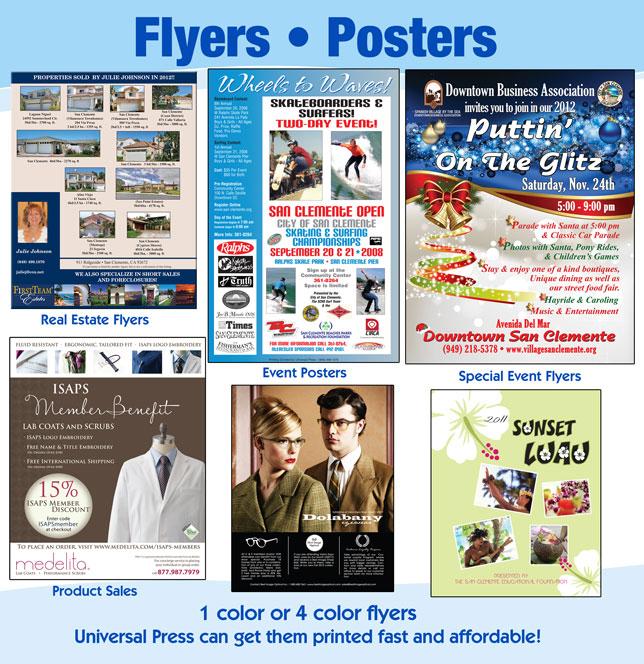 Flyers / Posters Universal Press Inc - Print  Copy Center