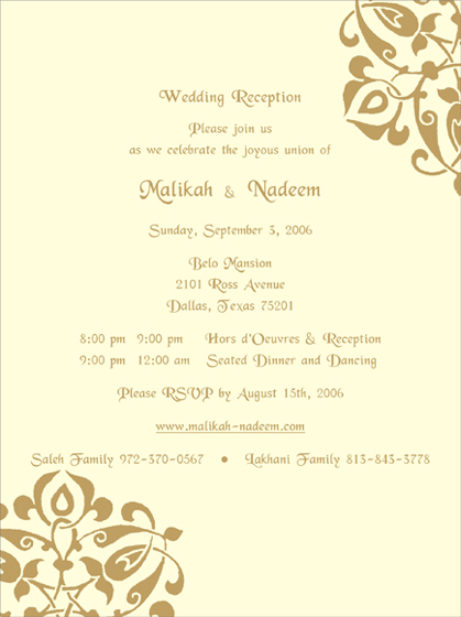 Reception Samples, Reception printed text, Reception Printed Samples