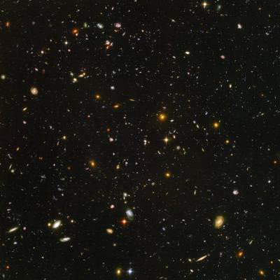 Hubble Deep Field survey shows many many galaxies. Image credit: Hubble